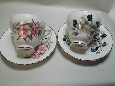 Royal~ Kendall~ bone china~ Tea Cup & Saucer ~made in England -set of 2