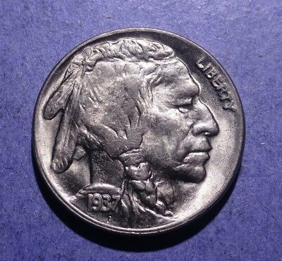 1937-D Buffalo Nickel Near Gem BU