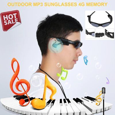 Smart Sunglasses Stereo Sun Glasses MP3 Wireless Outdoor Headphones Headset WD