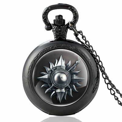 Vintage Game Of Thrones Pocket Watch House Martell Quart Pendant Necklace Retro