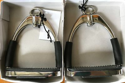 """NEW Stainless Steel Flex Ultimate Stirrups 4.5"""" All Items"""