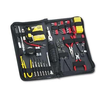 Fellowes® 55-Piece Computer Tool Kit in Black Vinyl Zipper Case 077511491061