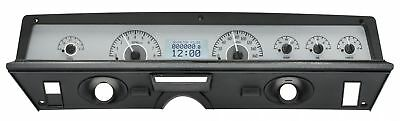 1971-76 Chevy Impala/Caprice VHX System, Silver Alloy Style Face, White Display