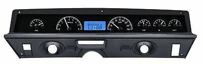 1971-76 Chevy Impala/Caprice VHX System, Black Alloy Style Face, Blue Display