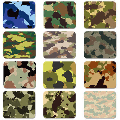 Army Green Camouflage Pattern Soft Rubber Mouse Pad Laptop Computer PC MousePad