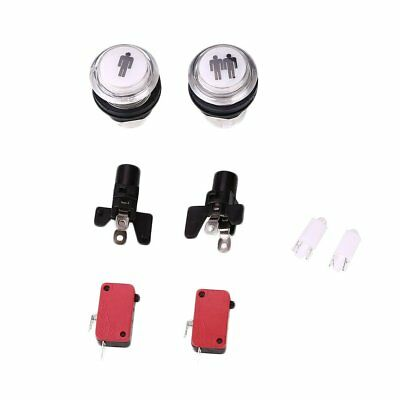 LED Arcade Start Push Button 1 Player + 2 Player Coin Button Switch Kit DIY