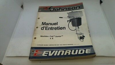 Manuel Technique Atelier Entretien Modeles Colt Junior 8 Evinrude Johnson 1987->