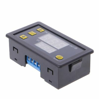 12V Timing Delay Relay Module Cycle Timer Digital LED Dual Display 0-999 Minutes