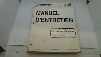 Manuel Technique Atelier Entretien Mercury Mariner 135 150 Injection Dir 1997->