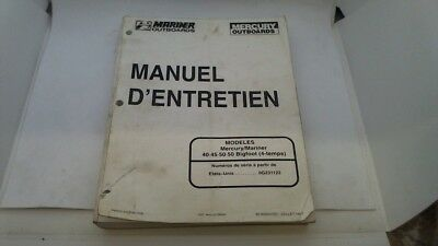 Manuel Technique Atelier Entretien Mercury Mariner 40 45 50 Bigfoot 1997->