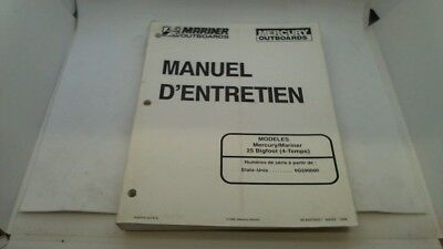 Manuel Technique Atelier Entretien Mercury Mariner 25 Bigfoot 4T 1998->