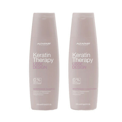 Alfaparf Lisse Design Keratin Maintenance Kit Shampoo + Conditioner 250 ml