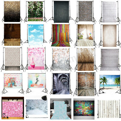 5x7FT Photo Photography Backdrop Wood Wall Floor Background Valentine's Day UK