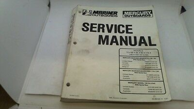 Service Manual Manuel Entretien Mercury Mariner 75 80 85 90 115 140 150 1991>