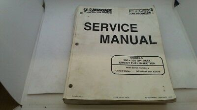Service Manual Manuel Entretien Mercury Mariner 200 225 Optimax Dfi 1998