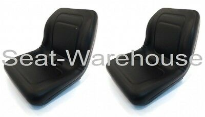 2 Black High Back Seats John Deere Trail Gator Gas Diesel 4X2 4X4 Hpx 6X4 #aib2