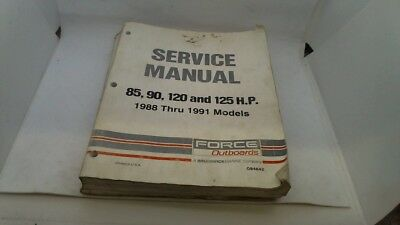 Service Manual Manuel Entretien Force Outboards 85 90 120 125 1988 - 1991