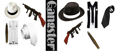 Gangster set Al Capone Flapper 1920s 5 Piece Set Kit Fancy Dress Up Mafia set