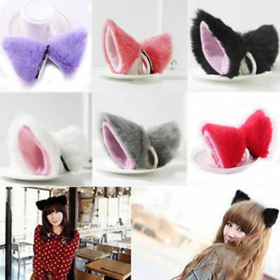 Headwear Orecchiette Costume Neko Halloween Cat Ears Hair Clip Party Ear