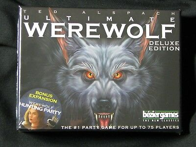 Ultimate Werewolf Deluxe Edition  Game- Bonus Hunting Party-bezier games-Sealed