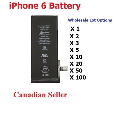 Lots x New 1810mAh Li-ion Internal Battery Replacement for iPhone 6 6g 4.7""