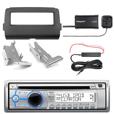 Clarion M303 Bluetooth Radio + Kit, SiriusXM Tuner, Antenna Kit (2014-Up Harley)