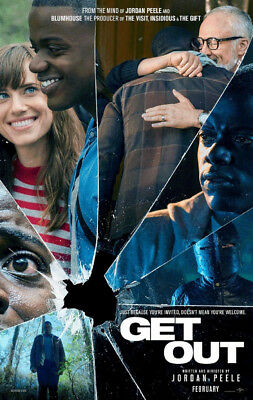 GET OUT MOVIE POSTER 2 Sided ORIGINAL Advance 27x40 JORDAN PEELE DANIEL KALUUYA
