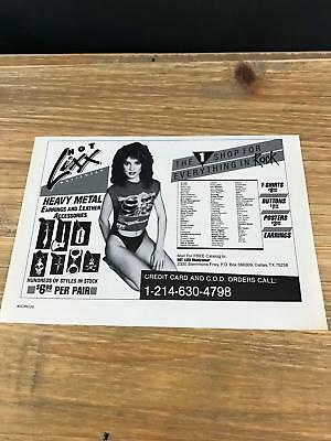"1985 VINTAGE 5x8"" PRINT Ad FOR HOT LIXX 80s #1 SHOP FOR EVERYTHING ROCK HOT GIRL"