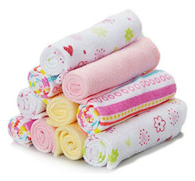 Baby Washcloths Soft Terry Girl Towels and Bath Set Pink Infant 10 Free Shipping