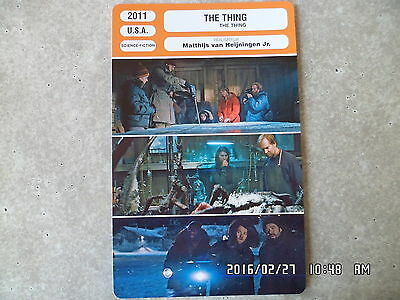 CARTE FICHE CINEMA 2011 THE THING Mary Elizabeth Winstead Joel Edgerton