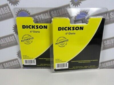 """(2 Packs of 60) DICKSON C203 Temperature CHARTS 4"""" (7 Day) 0-70 f + CHARTS"""