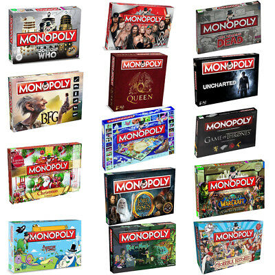 Monopoly Board Game Special Editions - 2018 Full Range by Winning Moves