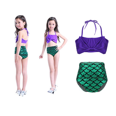 Kids Girls Mermaid Swimsuit Swimwear Bikini Set Swimming Costume