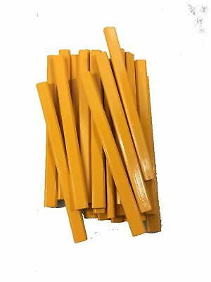Yellow Wooden Carpenter Pencils 72 Count Box Made In the USA Med Lead Bulk Box
