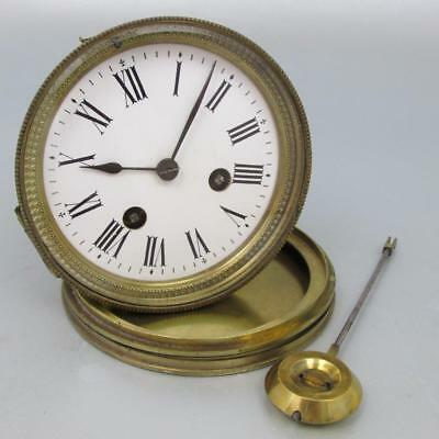 SUPERB ANTIQUE FRENCH MANTEL CLOCK MOVEMENT - H.P. & Co. working BACKDOOR & BELL