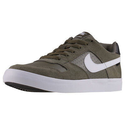 ec64420a458c Mens Nike SB Delta Force Vulc Suede   Leather Olive White Shoes Trainers  Casual