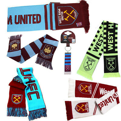 Football Team West Ham Scarf - Supporter Soccer Club Team Fan Gift Scarves