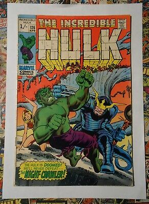 Incredible Hulk #126 - Apr 1970 - Night-Crawler Appearance! - Fn+ (6.5) Pence