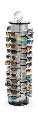Displays2go Sunglasses Display Rack, Holds 48 Pairs Comes with Double Sided M...