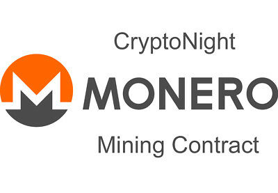 MONERO CryptoNight XMR XMO Mining Contract - 24 Hours - 1300 H/s (1.30 KH/s)
