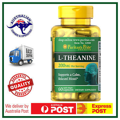MAX POTENCY L-Theanine 200mg by Puritan - 60, 120 or 180 Capsules Available!