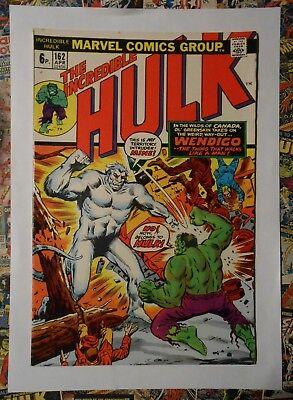 INCREDIBLE HULK #162 - APR 1973 - 1st WENDIGO APPEARANCE! - VFN+ (8.5) PENCE