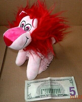 """1 Pink LION-Stuffed-New without tags-sits up-6"""""""
