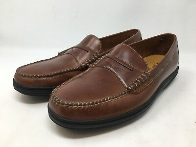 2a8628716ba3c8 Cole Haan Men s Brown Driving Moccasins Leather Penny Loafer Size 9.5M
