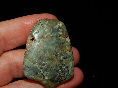 Pre-Columbian Jade Ceremonial Pendant, Nicoya, Authentic, Rare
