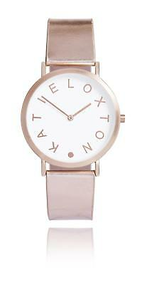 Katie Loxton - Luna Watch - Rose Gold Plated - Metallic Rose Gold Leather Strap