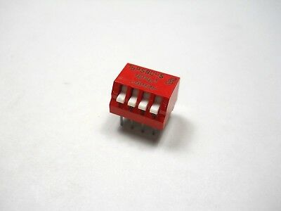 DIP Switch, 4 Position DIP Switch (NOS, New Old Stock)(QTY 5 ea)K4