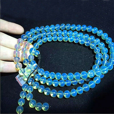 10mm 108 Pcs AAAAA Dominican Sky Blue Amber Bead Sphere Ball Necklace