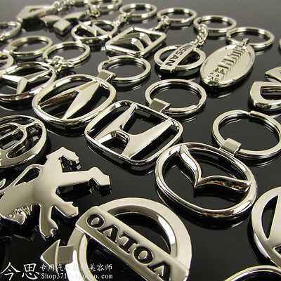 Metal Car Logos key Titanium Key Chain Car Keychain Ring Keyfob Metal Keyrings