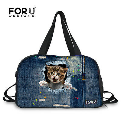 93e741319f Cute cat Training Duffle Gym Bag Fitness Yoga Tote Travel Bags With Shoes  Pocket